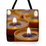 Meditation Candles Path Tote Bag