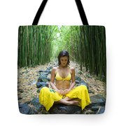 Meditation In Bamboo Forest Tote Bag