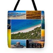 Mediterranean Coast Collage Tote Bag