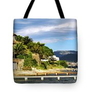 Mediterranean Coast Of French Riviera Tote Bag
