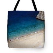 Mediterranean Coastal Scene Tote Bag