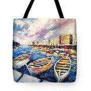 Mediterranean Port Colours Tote Bag