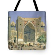 Medrasah Shir-dhor At Registan Place In Samarkand, 1869-70 Oil On Canvas Tote Bag