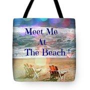 Meet Me At The Beach Tote Bag