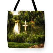 Meet Me By The Fountain Tote Bag