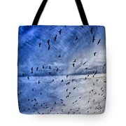Meet Me Halfway Across The Sky 1 Tote Bag by Angelina Vick
