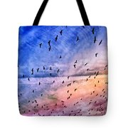 Meet Me Halfway Across The Sky 2 Tote Bag by Angelina Vick