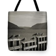 Meeting At The Waterfront Tote Bag