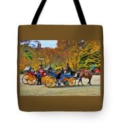 Meeting Of The Carriages Tote Bag
