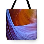 Meeting Of The Curves In Lower Antelope Canyon In Lake Powell Navajo Tribal Park-arizona  Tote Bag