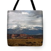 Meeting Of The Mountains And Desert Tote Bag