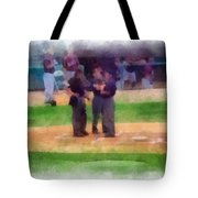 Meeting Of The Umpires Photo Art Tote Bag