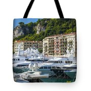 Mega Yachts In Port Of Nice France Tote Bag