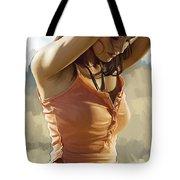 Megan Fox Artwork Tote Bag