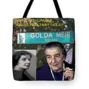 Meir Quote Tote Bag