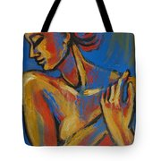 Mellow Yellow- Female Nude Portrait Tote Bag