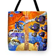 Melodies And Sunset Seas Tote Bag