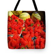 Melons And Strawberries Tote Bag
