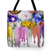 Melting Flowers Tote Bag