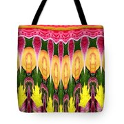 Melting Lily And Chrysanthemums Abstract Tote Bag