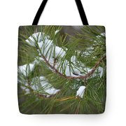 Melting Snow In The Pines Tote Bag