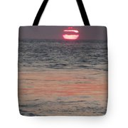 Melting Sun Into The Cool Sea Tote Bag