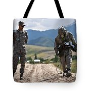 Member Of The Kyrgyz Republic Searches Tote Bag