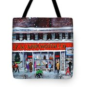 Memories Of Winter At Woolworth's Tote Bag