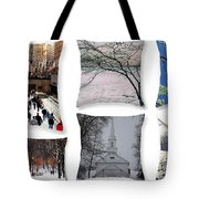 Memories Of Winter - A Collage Tote Bag