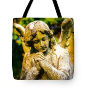 Memphis Elmwood Cemetery - Praying Angel Tote Bag