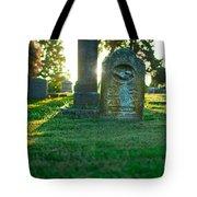 Memphis Elmwood Cemetery - Backlit Grave Stones Tote Bag