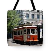 Memphis Trolley On Main Street Tote Bag