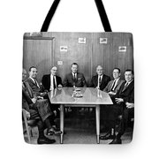 Men At A Business Meeting Tote Bag