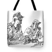Men At The Bar Tote Bag