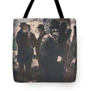 Men In Yellow Light Tote Bag