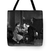Men Smoking Tote Bag