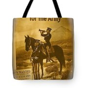 Men Wanted For The Army Poster No Date Ghost Town South Pass City Wyoming 1971 Vignetted Toned 2008 Tote Bag