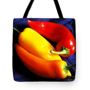 Menage A Trois Peppers Iv Tote Bag
