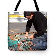 Mending The Nets Tote Bag