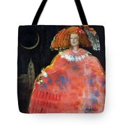 Menina And Cathedral Oil & Acrylic On Canvas Tote Bag