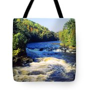 Menominee River At Piers Gorge, Upper Tote Bag