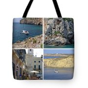 Menorca Collage 02 - Labelled Tote Bag
