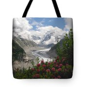 Mer De Glace - Sea Of Ice Tote Bag by Camilla Brattemark