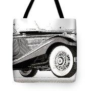 Mercedes 540k  - Parallel Hatching Tote Bag