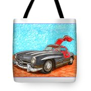 Mercedes  Benz 300 S L Gull Wing Tote Bag