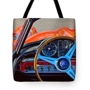 Mercedes-benz 300 Sl Steering Wheel Emblem Tote Bag