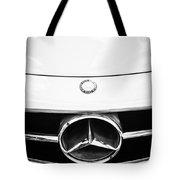 Mercedes-benz Grille Emblem -0230bw Tote Bag