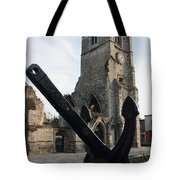 Merchant Sailors Memorial With Q.e.2 Anchor Tote Bag