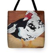 Merganser Duck Painted On Cedar Tote Bag