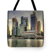 Merlion Park In Singapore 3 Tote Bag